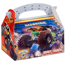 monster trucks jam games monster jam 3d empty favor boxes birthdayexpress com