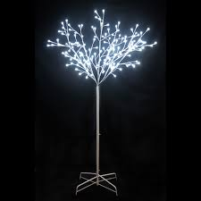 6 ft twig tree with white trunk and 156 led white globe lights