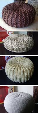 Knit Pouf Ottoman Pattern Knit Your Own Pouf Floor Cushion With This Free Pattern
