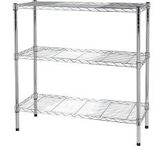Heavy Duty Steel Shelving by Buy Home Heavy Duty 3 Tier Metal Shelving Unit Chrome Plated At