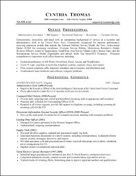 military resume example