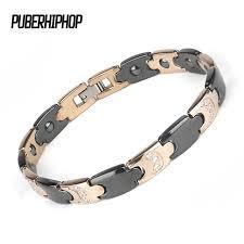 ceramic bracelet images Bracelet men jewelry mix black rose gold bio health ceramic jpg