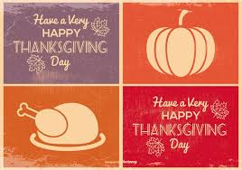 mini thanksgiving cards free vector stock