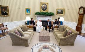 Obama Oval Office Decor In Photos Pope Francis Visits The White House Whitehouse Gov