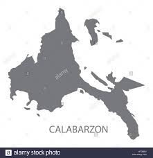 Philippines Map World by Calabarzon Philippines Map Grey Stock Vector Art U0026 Illustration
