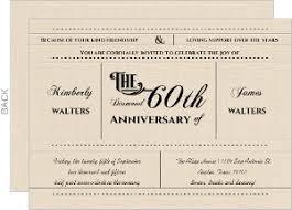 60th anniversary invitations 60th anniversary invites custom anniversary invitations