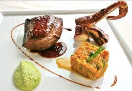 recette de cuisine de chef recette la poitrine de canard rôtie et le poulpe laqué soja