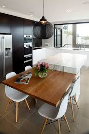 eat in island kitchen kitchen table kitchen contemporary with waterfall counters