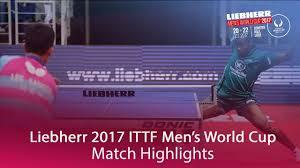 Quadri Country by 2017 Men U0027s World Cup Highlights I Aruna Quadri Vs Lee Sangsu