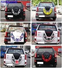 toyota rav4 spare tire rear spare tire backup tire sticker tiger flying with wing for