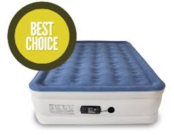 an inflatable air mattress for a bed