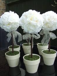 Topiaries Wedding - boxwood topiary set 3 artificial trees wedding centerpiece