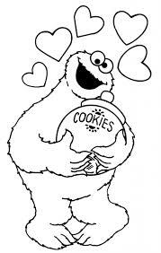 cookie monster coloring pages printable free www kibogalerie