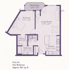 floor plans a4 881 1 bed 1 bath