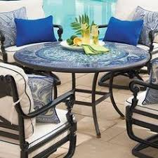 Mosaic Patio Furniture by 3 Piece Mosaic Bistro Garden Furniture Patio Set With Round Table