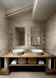 rustic bathroom vanities powder room rustic with bridge faucet