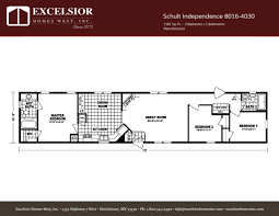 schult modular home floor plans schult independence 8016 4030 excelsior homes west inc