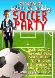 Invitation Card 7th Birthday Boy Exclusive Soccer Birthday Party Invitations Theruntime Com