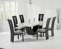 buy mark harris rivilino cream and black constituted marble dining