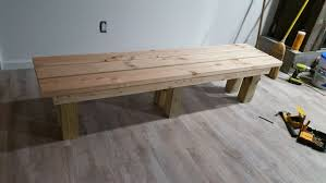Upside Down Bench Simple Sturdy Benches 5 Steps With Pictures