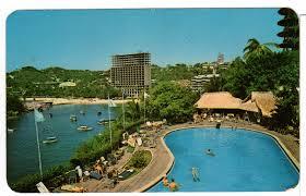 alberca del hotel caleta acapulco mexico 1960 u0027s postcard vintage