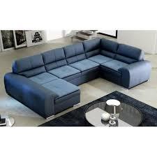 canape d angle bleu justhome omega duo canapé d angle en cuir bleu lxp 365x210x180 cm