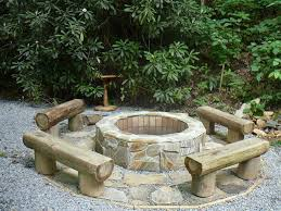 Firepit Logs Log Seats Around Pit Outdoor Pinterest Logs Backyard