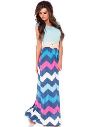 mint fuchsia chevron maxi dress affordable modest boutique