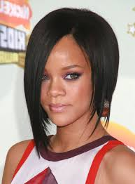 pictures of medium length bob hairstyles rihanna inverted bob haircut with layered popular long hairstyle