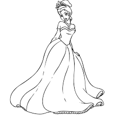 blank disney princess coloring pages