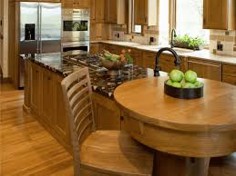 kitchen island with oven caramel brown wooden kitchen island with extended circle wooden