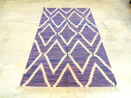 Aztec Area Rug Purple Aztec Modern Geometric Kilim Hand Knotted 3x5 Discovered