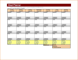 Meal Plan Excel Template Excel Weekly Meal Planner Meal Planning Together With
