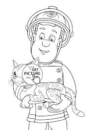 quality free printable fireman sam cartoon coloring books