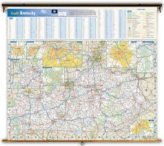 Zip Code Map Louisville Ky by Kentucky State Wall Map From Geonova