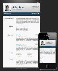 Resume Templates Mobile by 54 Impressive And Well Designed Resume Examples For Inspiration
