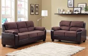Dark Brown Sofa Living Room Ideas by Homelegance Ellie Sofa Set Dark Brown Microfiber And Bi Cast