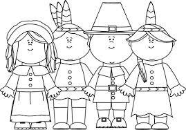 Thanksgiving Pilgrims And Indians Dinner Pilgrims Clipart