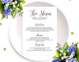 wedding menu sign etsy