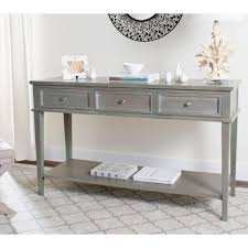 Entryway Console Table With Storage Safavieh Gray Entryway Tables Entryway Furniture The Home