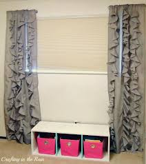 Curtains Without Rods Ruffle Curtains Circle Ruffles Crafting In The