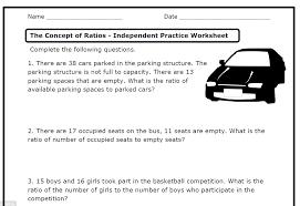 6th grade ratios 28 images 6th grade math ratio worksheets car