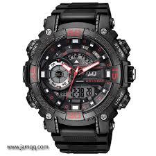 Jam Tangan Casio Medan jam tangan q q gw87 j002y warna hitam merah jam tangan dualtime