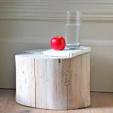 Log Side Table Log Side Table Sanded And Applied 3 Parts Liquid Wax Or