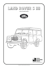 coloring pages cars land rover iii minnie mouse printable