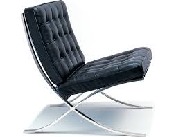 Leather And Chrome Chairs Barcelona Chair Chrome Plated Hivemodern Com