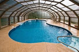 enclosed pool stunning enclosed nj backyard swimming pool