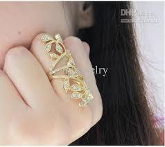 long gold rings images Hot sale gold rings long blingbling flowers rhinestones wedding jpg
