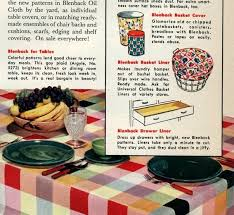 Stay Put Table Covers Do It Yourself Decorating With Colorful Oil Cloth 1952 Click