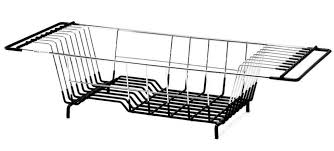 Kitchen Drying Rack For Sink by Neat O Over The Sink Kitchen Dish Drainer Rack Durable Chrome